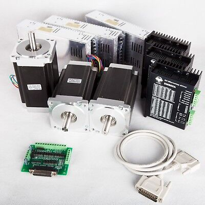 Free Ship Us 3axis Nema34 Stepper Motor 1600oz.in 3.5adriver Cnc Router