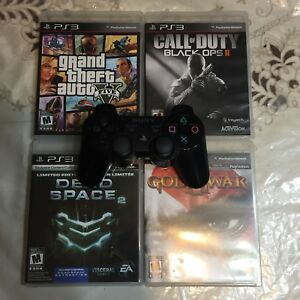 PS3 Controller With 4 Games