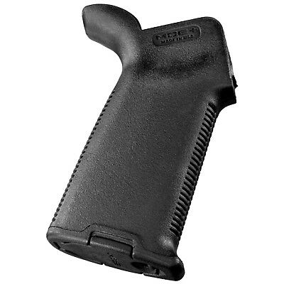 Magpul PLUS Enhanced Rubberized Rear Grip Drop-In Upgrade w/ Cap BLK BLACK