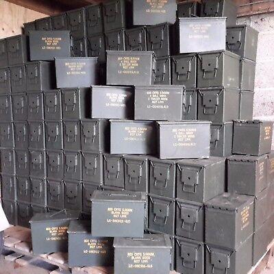 Ammunition  Box Fat 50 Storage Solution Tool Box Safe Man Tin Camping Box