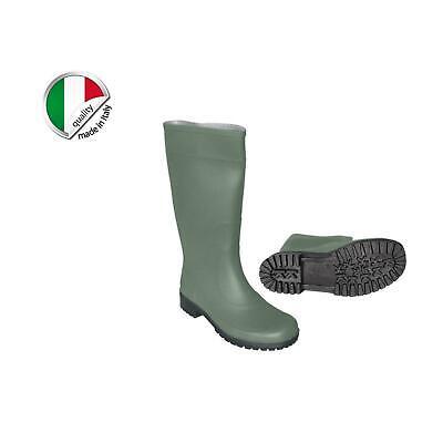 SCARPE UOMO STIVALI DI GOMMA PVC Pioggia ANTISCIVOLO LUNGHI ALTI MADE IN ITALY