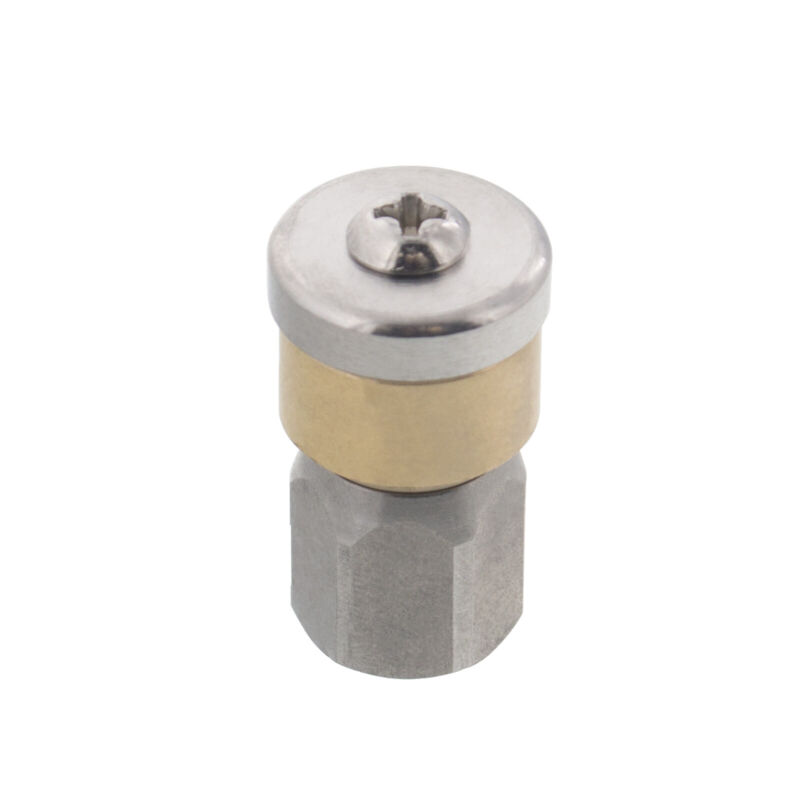 """Erie Tools Rotating 1/8"""" Sewer Jetter Nozzle for Drain Cleaning 3.5 Orifice"""