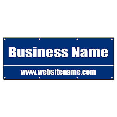 Business Name Custom Phone Banner Sign 4 Ft X 2 Ft W 4 Grommets