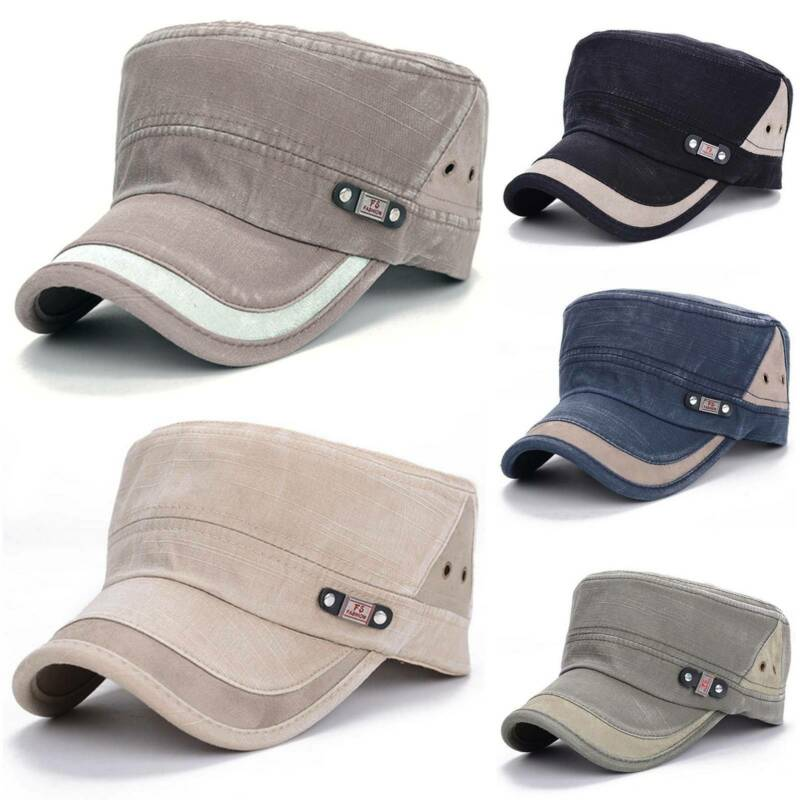Army Hat Classic Cadet Military Cap Style Patrol Casual Travel Baseball Sun Hat Clothing, Shoes & Accessories
