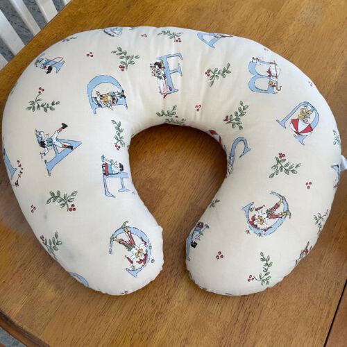 Boppy Nursing Positioning Pillow Retro Vintage Alphabet Print Unisex Cream