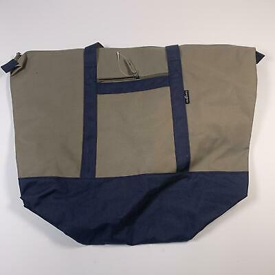 Samsonite Large Yacht Tote Canvas Khakis Tan Navy Travel Luggage Bag