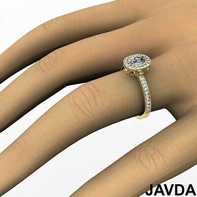 Milgrain Halo Pave Bezel Set Cushion Diamond Engagement Ring GIA G Color VS2 1Ct 11