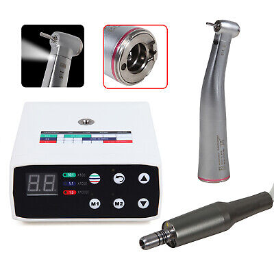Dental Led Brushless Electric Micro Motor Nsk Style 15 Fiber Optic Handpiece