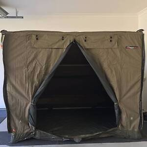 Oztent RV3 with Rhino Rack rooftop basket Brighton Brisbane North East Preview