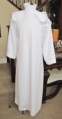 Princess Leia white gown dress in ponte fabric costume replica - Princess Leia In White Dress
