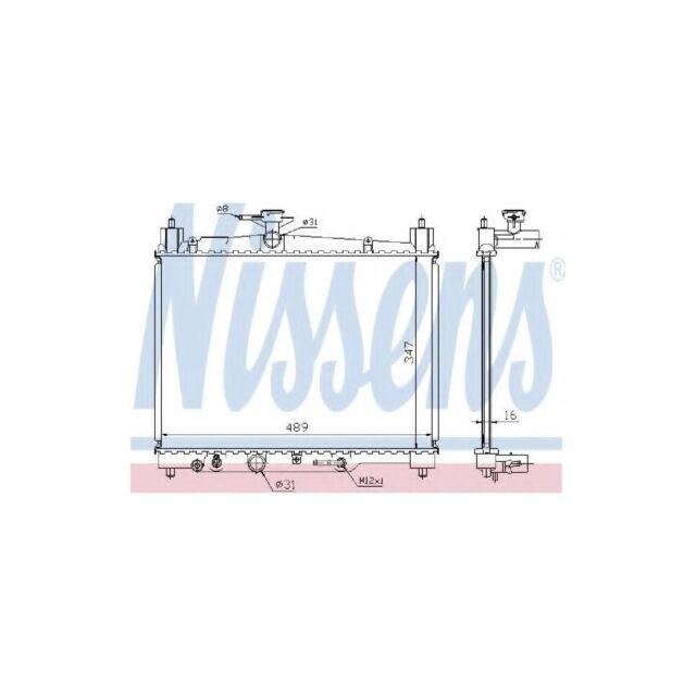 Genuine Nissens Engine Cooling Radiator - 64801