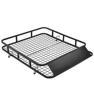 "48""x 40"" Universal Roof Rack Basket Car Top Luggage Carrier Cargo Holder Travel"