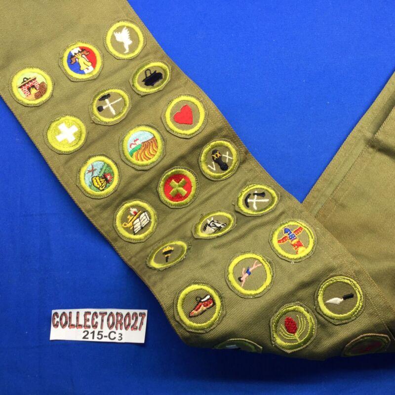 Boy Scout Merit Badge Sash With 24 Merit Badges