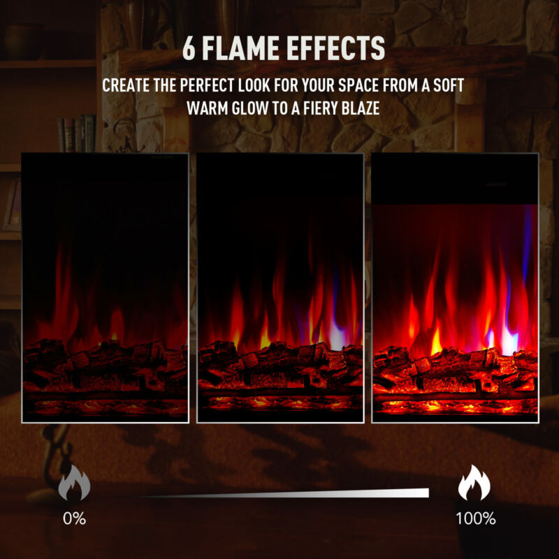 """32"""" 1500W Recessed Electric Fireplace Heater Insert w Remote"""