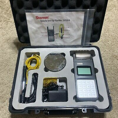 Starrett 3810a Digital Portable Hardness Tester W Printer Leeb Ball Indenter