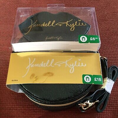 Kendall + Kylie Jenner Kardasian Hand Bag & Purse Metalic Green Cross Body Strap