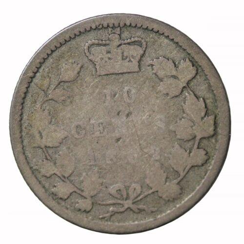 1862 New Brunswick Canada Silver Dime 10 Cents KM#8 Queen Victoria Coin