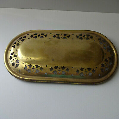 Cover Lid Brass with Pattern Approx. 13,5 X 26 CM