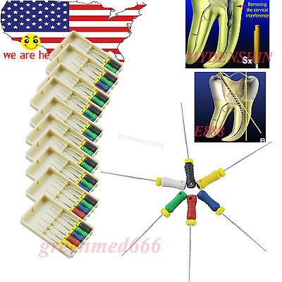 10pack Niti Hand Files Dental Root Canal Endo K-files 015 - 040 25mm Fit Mani