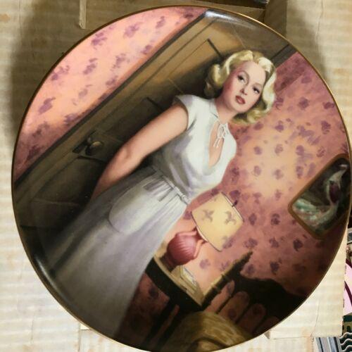 Vintage1990 Lana Turner Collectors Plate Postman Always Rings Twice OB NM COA