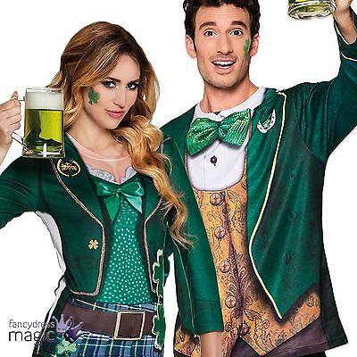 Adults Irish Leprechaun St Patricks Paddys Day Fancy Dress Photorealistic Shirt