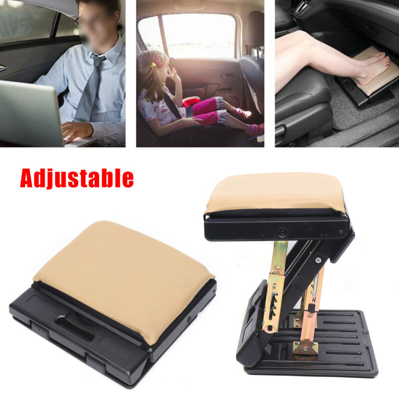 Portable Foot Rest Stool Under Desk Adjustable Height Office Ergonomic Comfort