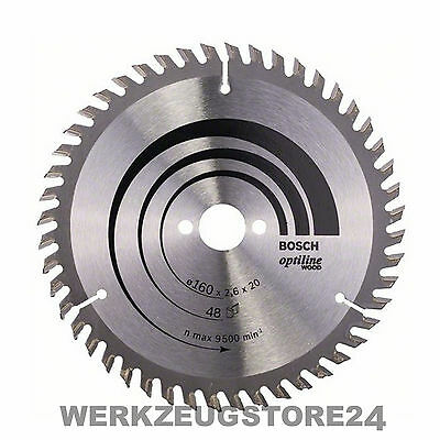 Bosch Kreissägeblatt Optiline Wood 160x20/16x2,6/1,6 mm 48T WZ 2608640732