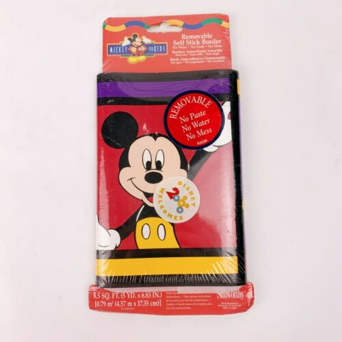 New Disney Mickey For Kids Removable Self Stick Border Wallpaper 5 yards