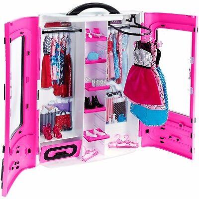 Barbie Doll Closet Wardrobe Clothes Lot Furniture Fashion Set Ken Girls Toy Play