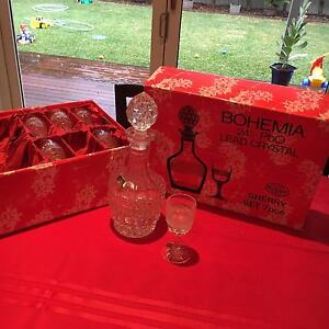 Bohemia Crystal 7 pce Decanter + Sherry Glass set Beverley Park Kogarah Area Preview