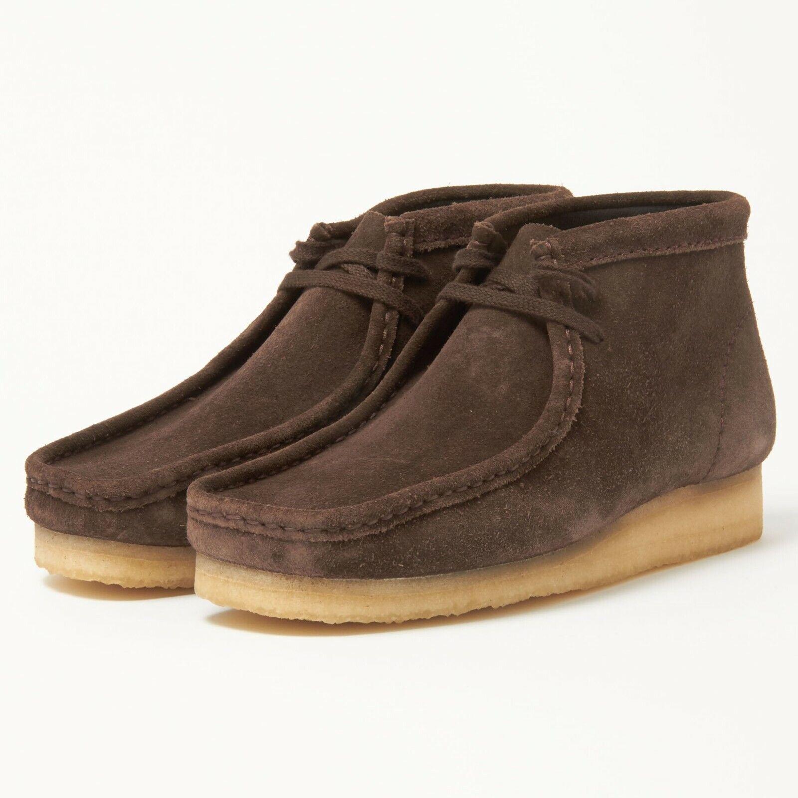 Clarks Originals Wallabee Boot Men's Nut Brown Suede Casual Shoes 26103658