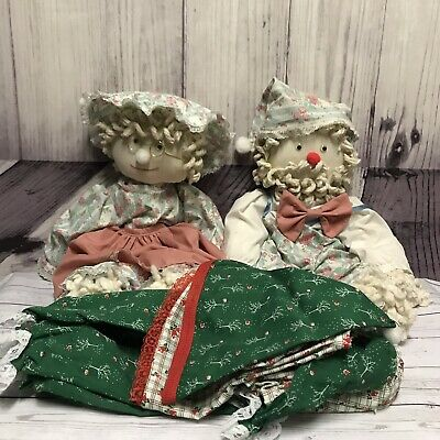 2 Vintage Mop Dolls Girl Boy With Extra Christmas Outfits Unique Chic Lot (M3](Unique Halloween Outfits)
