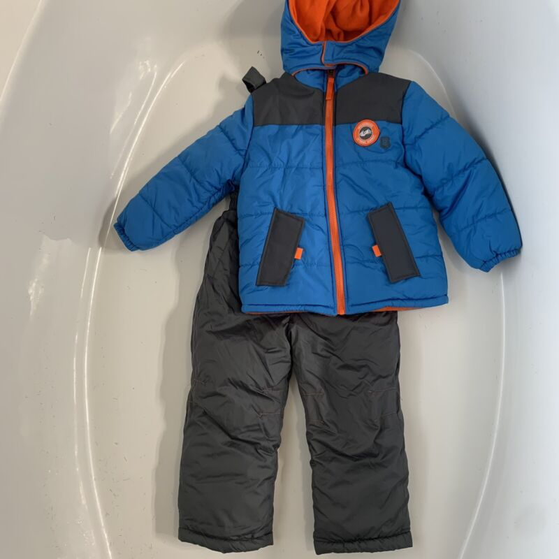 iExtreme Boys Snowbib And jacket 4T Blue And Gray
