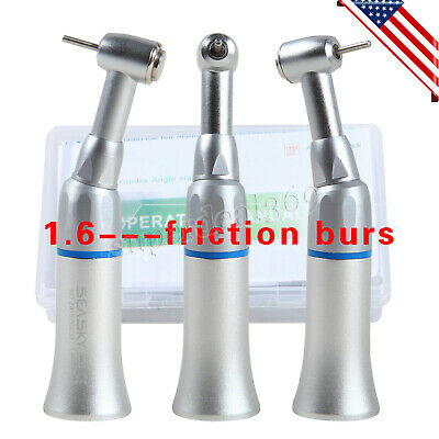 Dental Contra Angle Low Speed Handpiece Push Button Fit Fg High-speed Bur 1.6mm