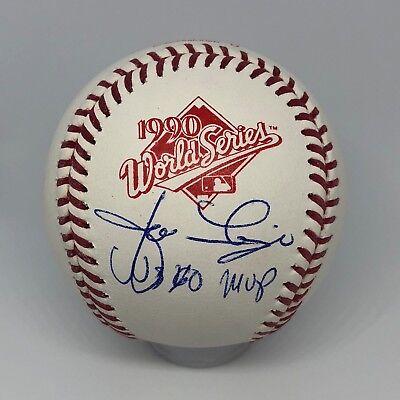 Jose Rijo signed Rawlings 1990 Official World Series Baseball JSA Reds MVP A149
