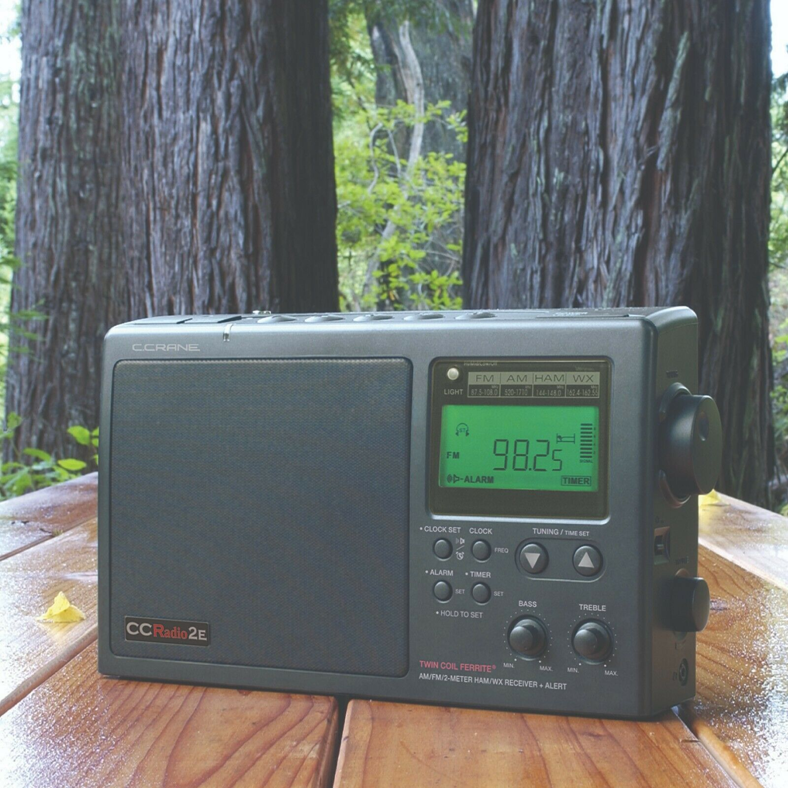 C. Crane CCRadio-2E Enhanced Portable AM FM Weather and 2-Me