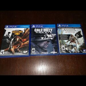 Infamous, Cod ghosts, Assassins Creed 4 -$10