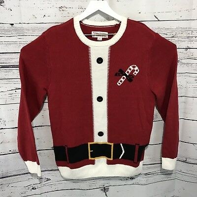 Men's Ugly Christmas Sweater Size Large Santa Suit EUC A1212 for sale  Hudson