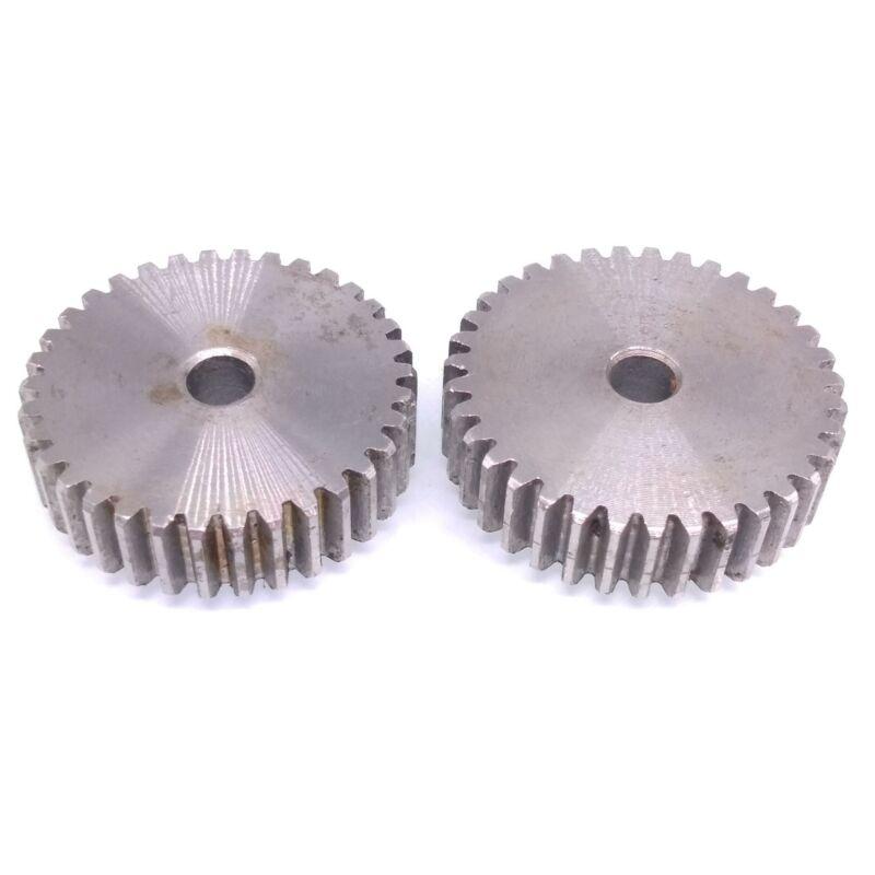 2pcs 1 Mod 35T Spur Gear 45# Steel Motor Pinion Gear Thickness 10mm
