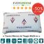 Cuscino-Memory-Foam-Cervicale-Saponetta-Sfoderabile-Ufficiale-ACF-Fiorentina-Bed
