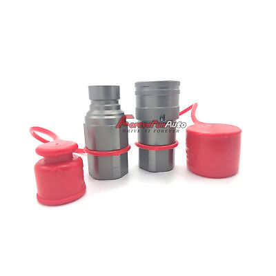 12 Skid Steer Bobcat Flat Face Hydraulic Quick Connect Coupler Coupling Set