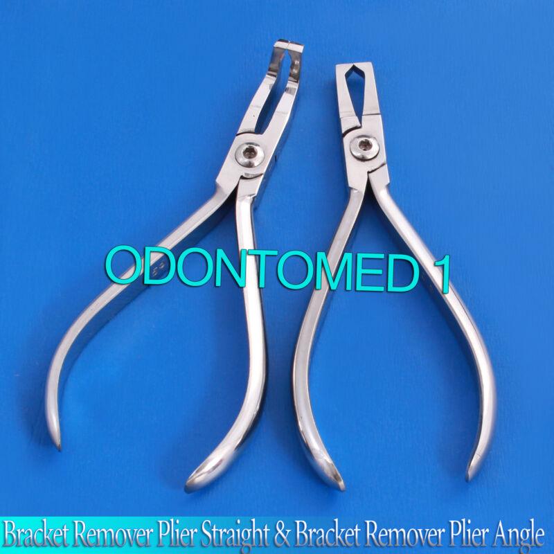 Set Of 2 Bracket Remover Plier Straight & Bracket Remover Plier Angle Ortho