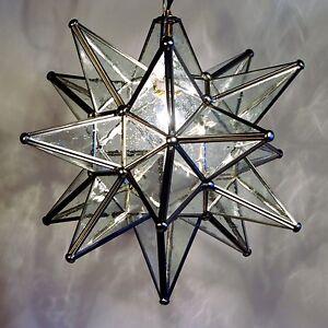 moravian star pendant light 19 15 or 10 choose your glass trim options. Black Bedroom Furniture Sets. Home Design Ideas