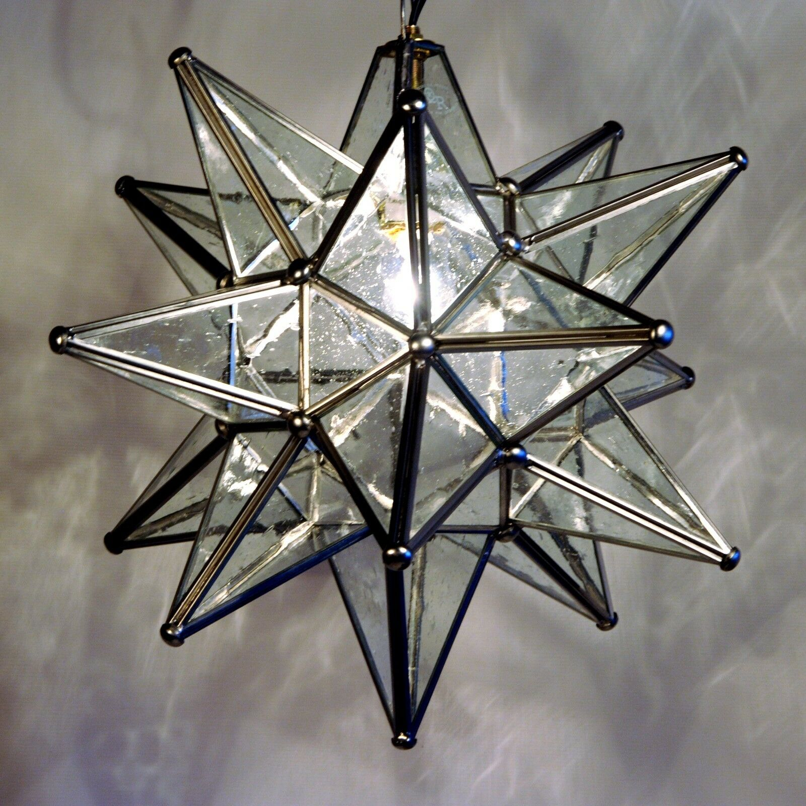 "Moravian Star Pendant Light, 19"", 15"" or 10"", Choose your Gl"