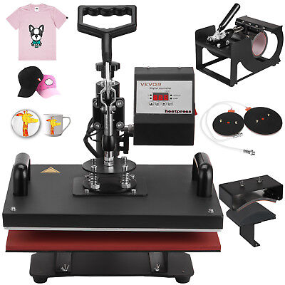 5in1 T-shirt Heat Press Transfer Sublimation Cup Plate Digital Clamshell On Sale