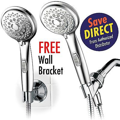 HotelSpa AquaCare 7-setting Handheld Shower Head w/Pause Switch+Extra-Long Hose