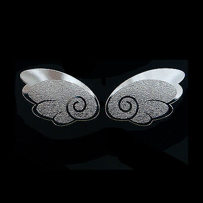 Fairy Wings Metal Decal Sticker for Cell phone Smartphone Chrome silver-Plated