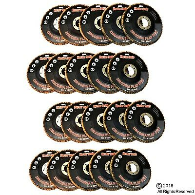 Lot Of 20 4 12 X 78 Flap 60 Grit Wheel Sanding Disc Premium Zirconia