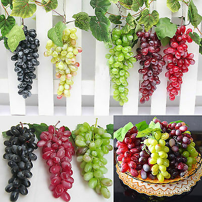 Newly Fake Faux Grape Bunch Decorative Fruit ...
