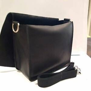 Beautiful Handcrafted Matt Black Leather Camera Bag SMALL Version South Perth South Perth Area Preview